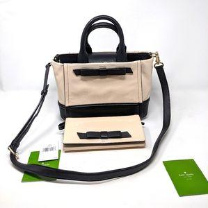 ♠️Kate Spade Ballet Slipper Pink Black Bag/Wallet